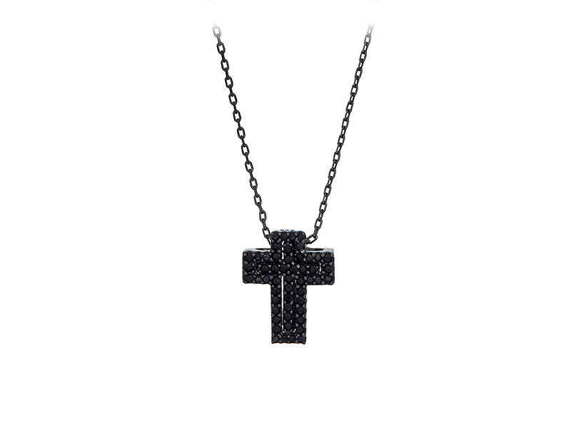 Colier Argint Double Cross