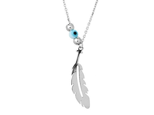 Colier Argint Silver Feather