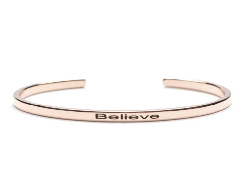 Bratara Argint 'Believe' - Rose Gold