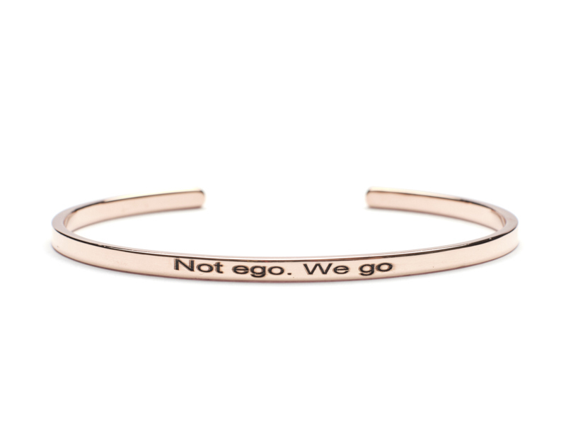 Bratara Argint 'Not ego.We go' - Rose Gold