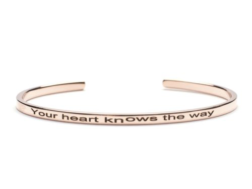 Bratara Argint 'Your heart knows the way' - Rose Gold