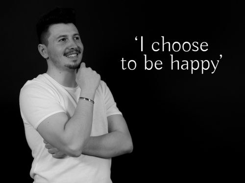 Bratara Argint 'I choose to be happy'