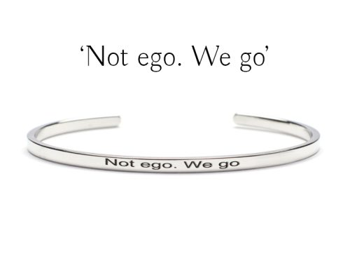 Bratara Argint 'Not ego.We go'