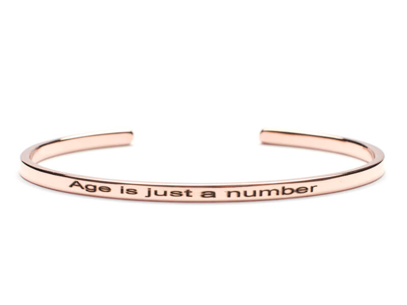 Bratara Argint 'Age is just a number' - Rose Gold