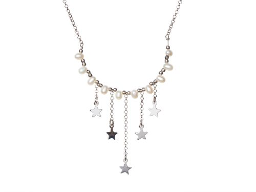 Colier Argint Stars and Pearls