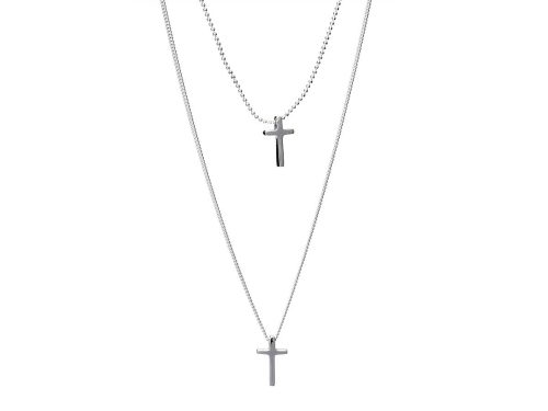 Colier Argint Cross Chains