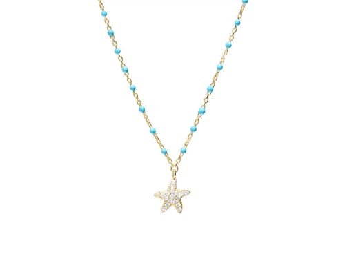 Colier Argint Gold Starfish